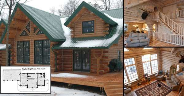 Splendid Log Home for 56000 Must See Interior and Floor Plans