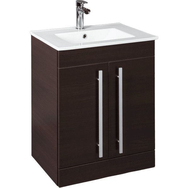Icona Classic Chestnut Floorstanding Vanity Unit Basin 600mm Width ($275) ❤ liked on Polyvore featuring home and home improvement