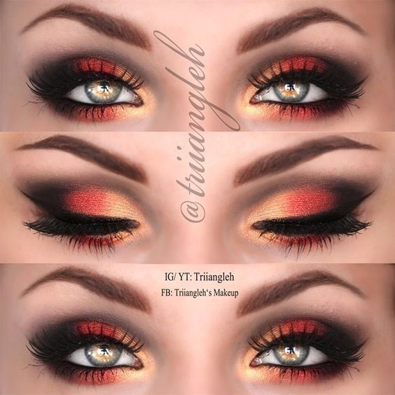 Hot fire makeup looks to try for fun fasching kost m - Elegantes make up anleitung ...
