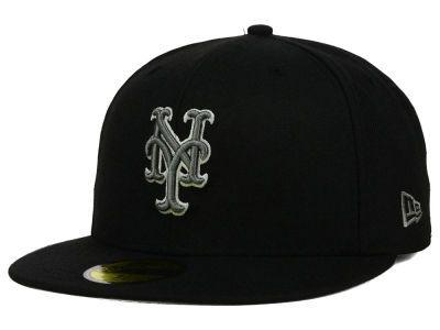 90f5a214d5f0f New York Mets New Era MLB Black Graphite 59FIFTY Cap Gorra New Era