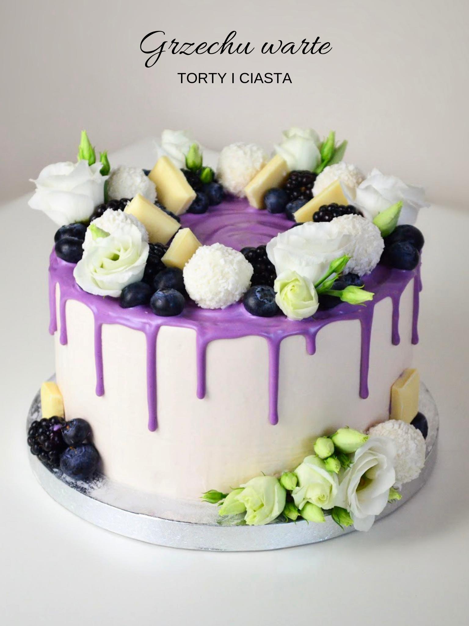 Fioletowy Torcik Cake Decorating Cake Desserts