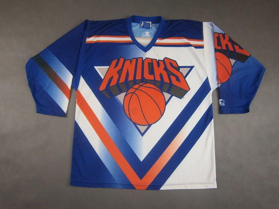 9f5ba020c03 New York Knicks Starter Vintage NY Hockey Jersey NBA SIZE L