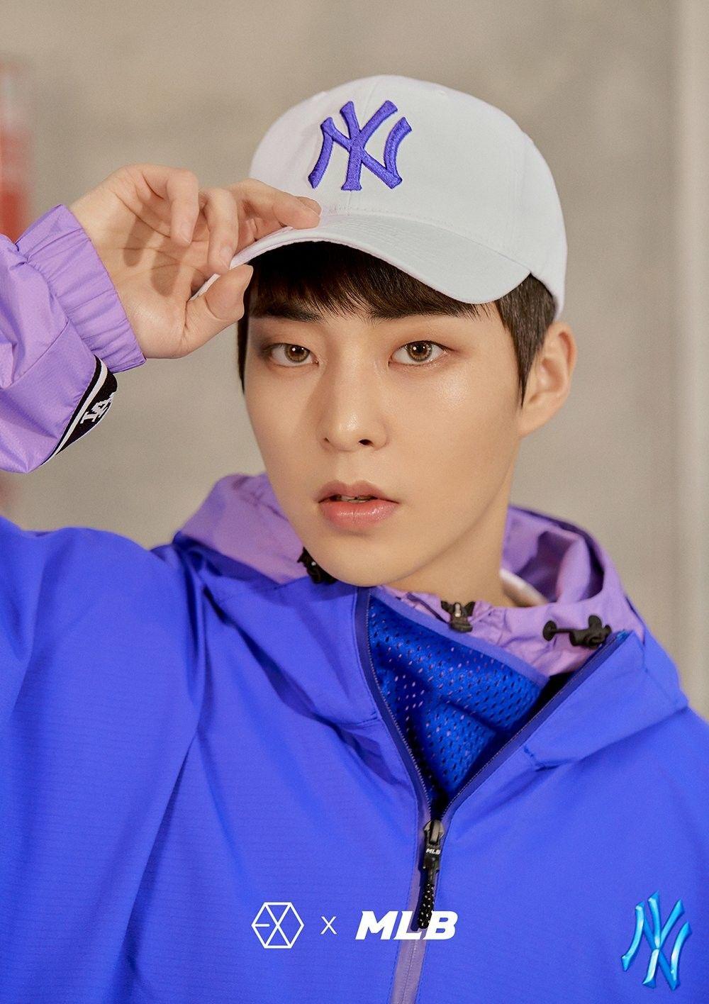 180313 Exo Xiumin Mlb Official Website Mlb X Exo Sehun