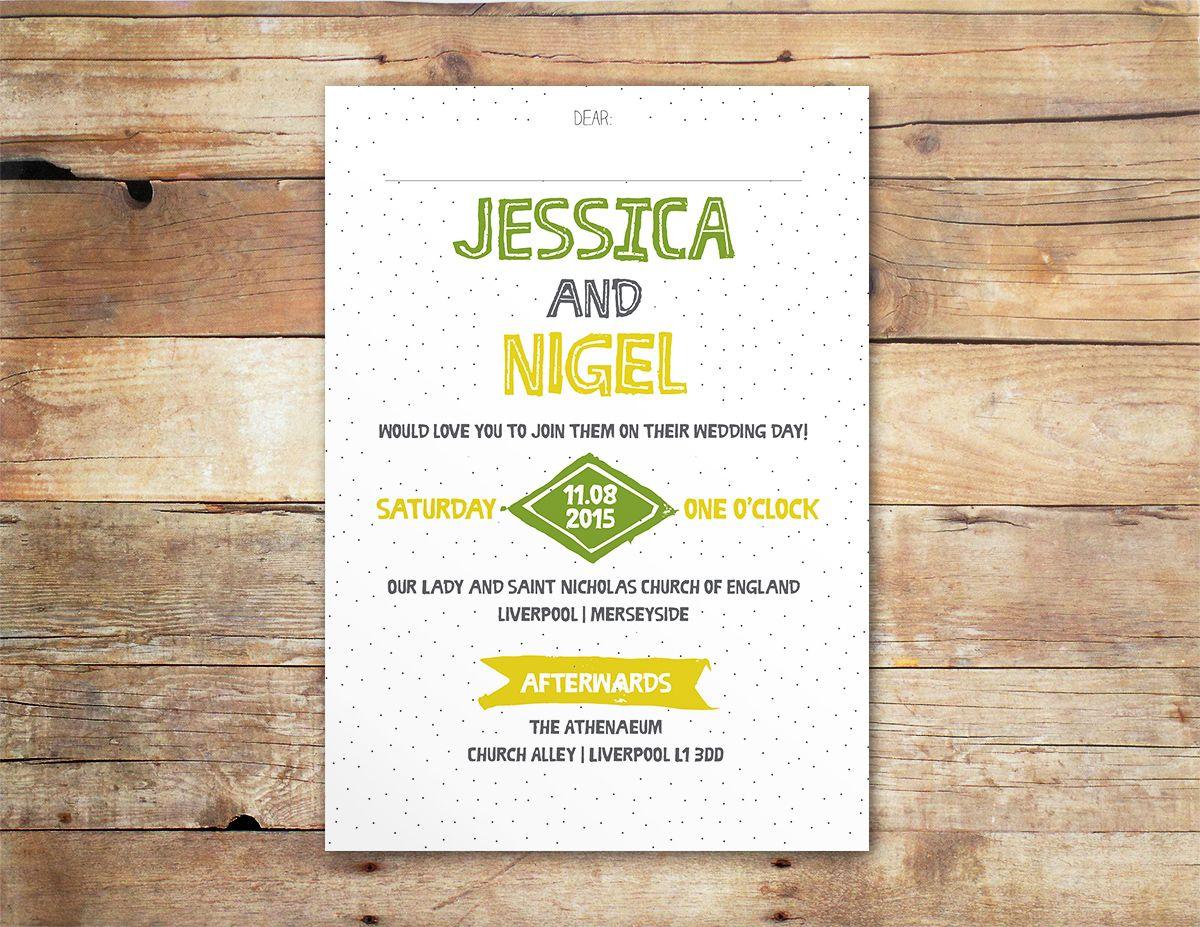 Lemon & Lime Quirky & Fun Wedding Invitation Ireland & UK | Our ...