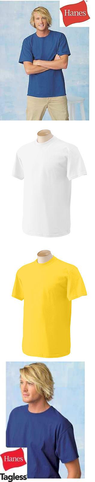 Shirts 50976: Blank Hanes Tagless 6.Oz T-Shirt Plain Wholesale Bulk Lot Colors S-Xl 5250 -> BUY IT NOW ONLY: $257 on eBay!