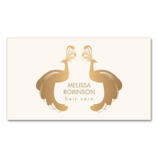 elegant gold peacocks logo ii