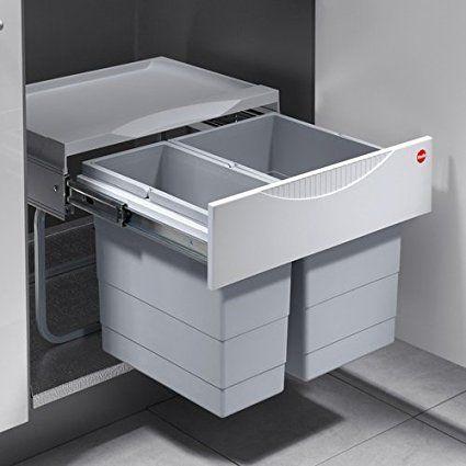 Hailo 3644701 Collecteur de déchets TR Swing 502 30 pour armoires - küchen mülleimer einbau