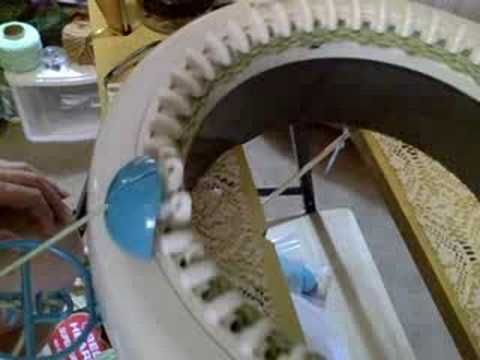 Knitting Wheel Casting Off : Panel knitted on innovations knitting machine crochet