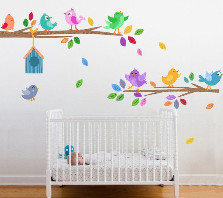 Vinilos infantiles para el cuarto del bebé | Muebles | Decorar ...