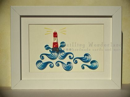 quilling lighthouse w/ scriptures