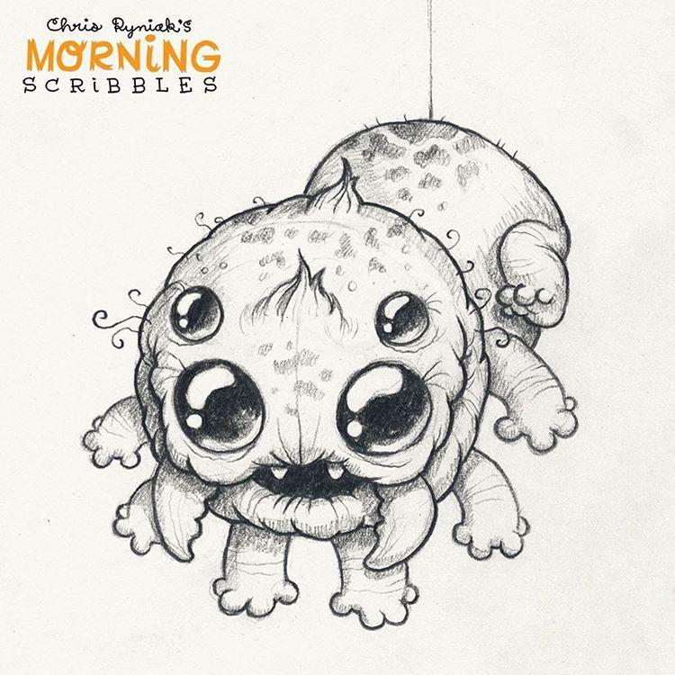 Spider Critter! 🎃🍁🍂 #morningscribbles #halloween #october