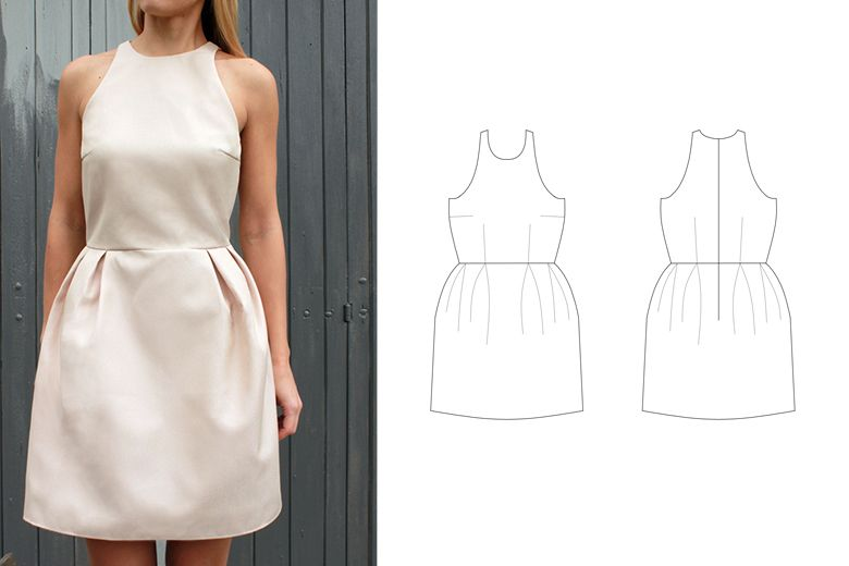 Free sewing pattern - Sonja dress | Salme Sewing Patterns | DIY ...