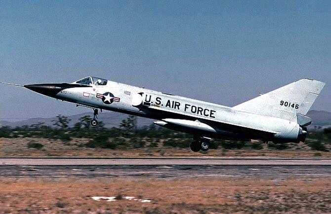 A USAF Convair F-106A Delta Dart.