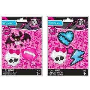 Monster High Party Supplies Jumbo Eraser Set 3 Pk Party Supplies