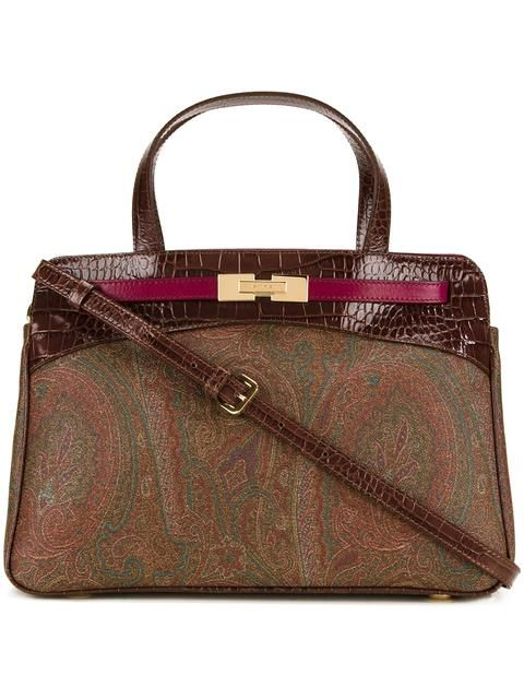 ETRO double strap small tote. #etro #bags #polyester #tote #shoulder bags #pvc #hand bags #cotton #