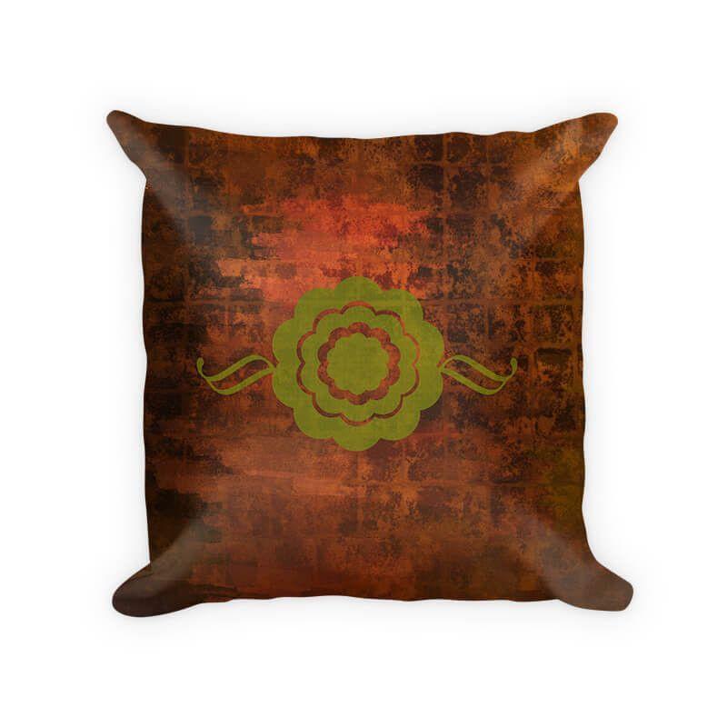 Ornamental Floral Throw Pillow
