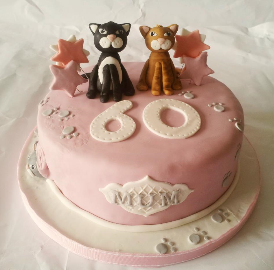 60th Cat Lady Birthday Cake Cakeart Birthday Pinterest Cake