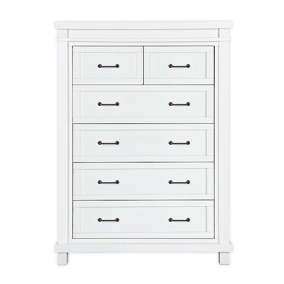 Prepac Monterey 6 Drawer White Chest Wdc 2354 K The Home Depot Prepac White Chests Tall Narrow Dresser [ 1000 x 1000 Pixel ]