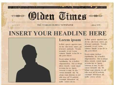 Editable Olden Times Newspaper Powerpoint Template It Can Later Be