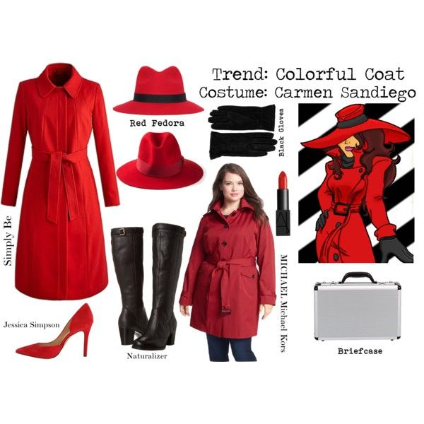 Diy Halloween Costume Colorful Coat Carmen Sandiego