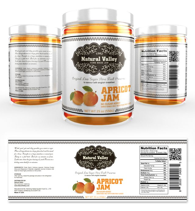 Apricot Jam Label Template Creative Brochure Templates - labeltemplate