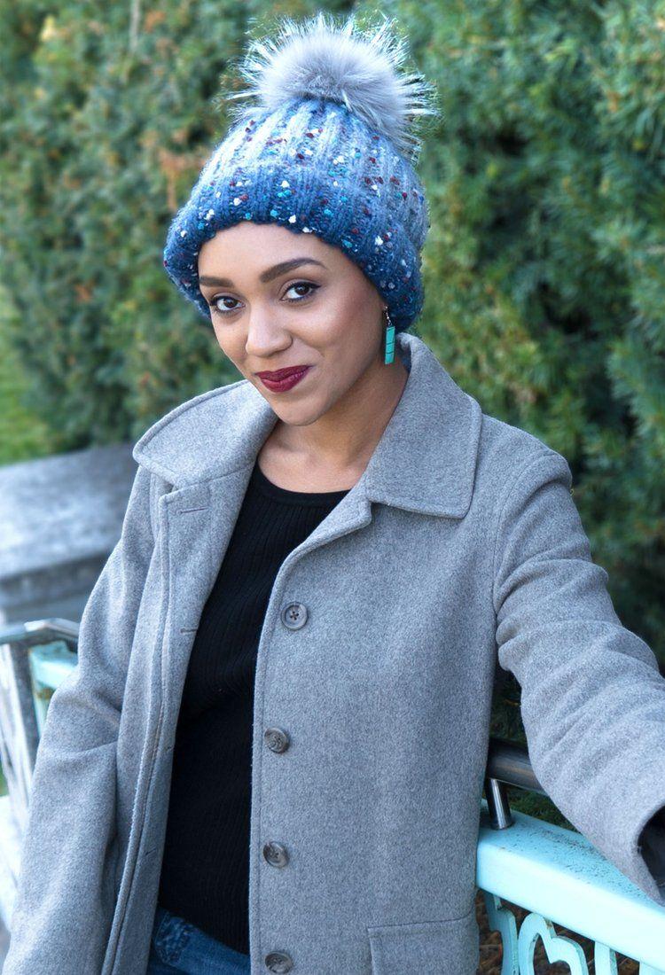 b8f0574a170 Holly Jolly Pom Pom Beanie Knit Hat For Women.