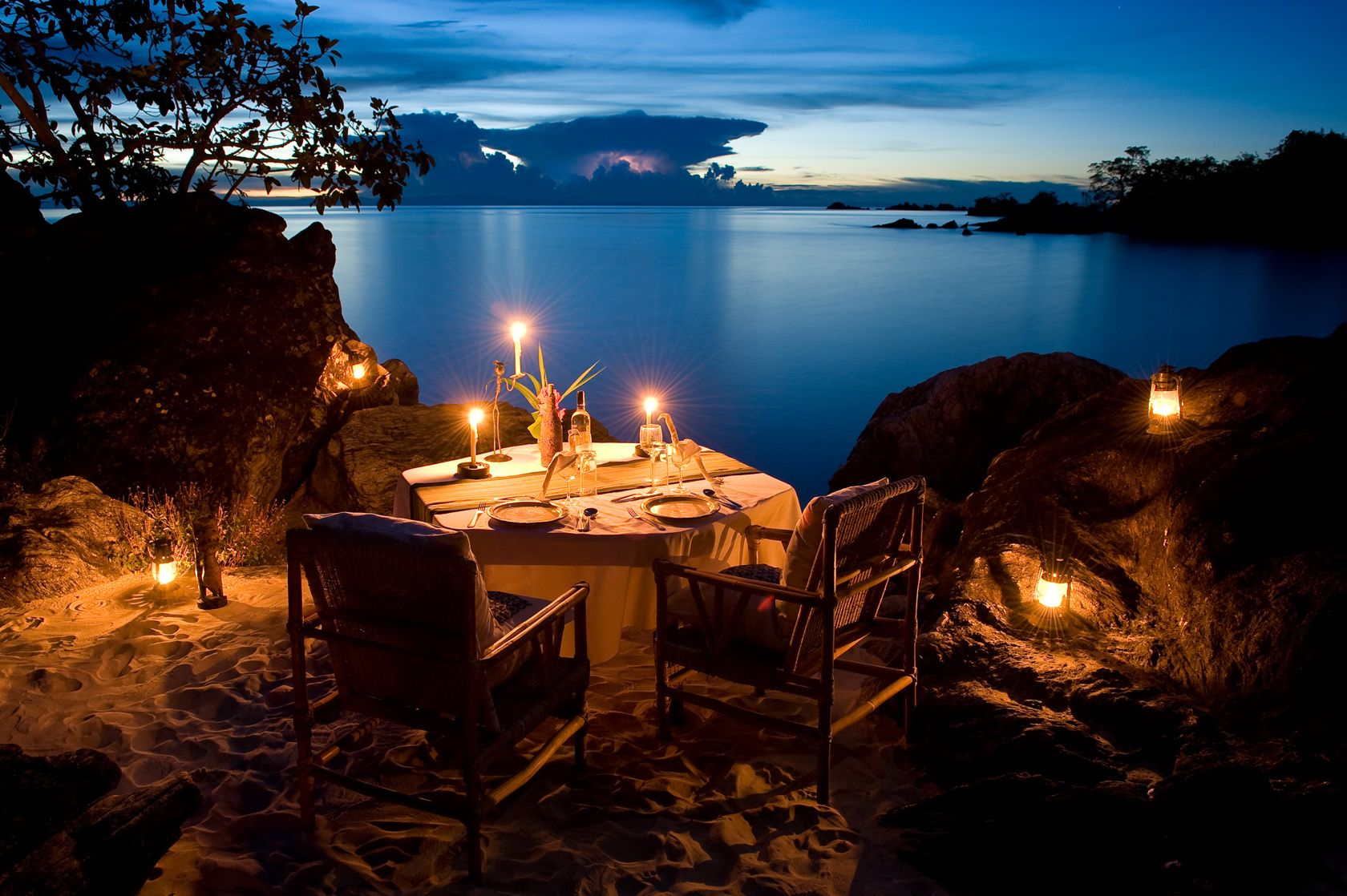 Private dinner at chalet