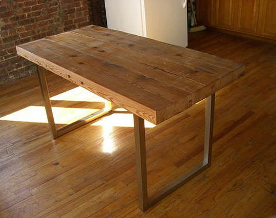 diy how to make your own reclaimed wood desk from scrap
