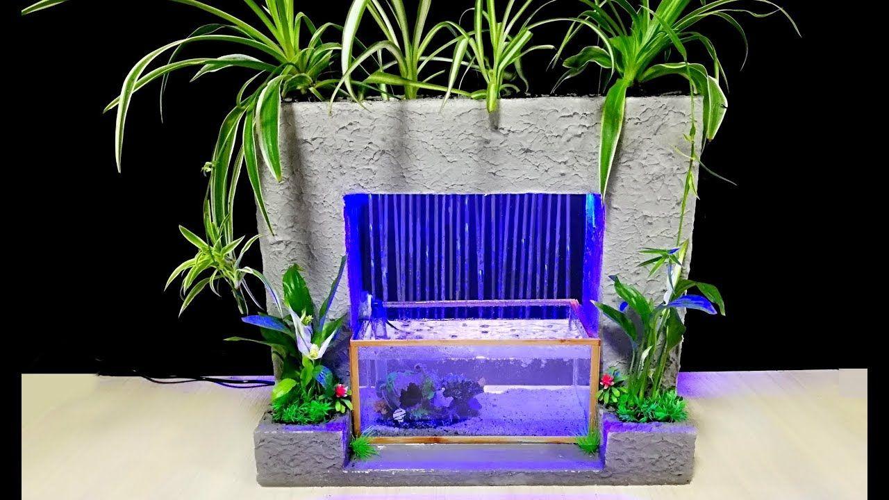How to make Amazing Cement Aquarium Fountain / DIY in 2020 ...