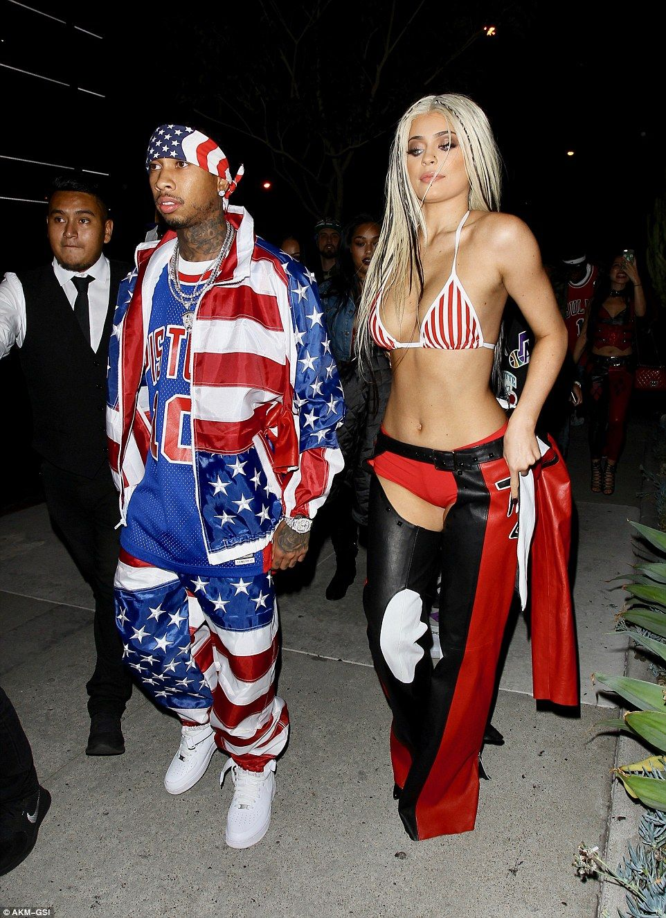 Kylie Jenner And Her Boyfriend Tyga Dressed Up In Iconic Outfits From The Early 2000s Attending A Los Angeles Party As Christina Aguilera Dirrty