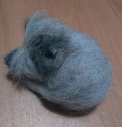 New Listing Started Handmade Needle Felted Sleeping Cairn Terrier Dog Ornament £4.99