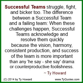 Ty Howards Quote On Teamwork Quotes On Successful Teams Quotes On