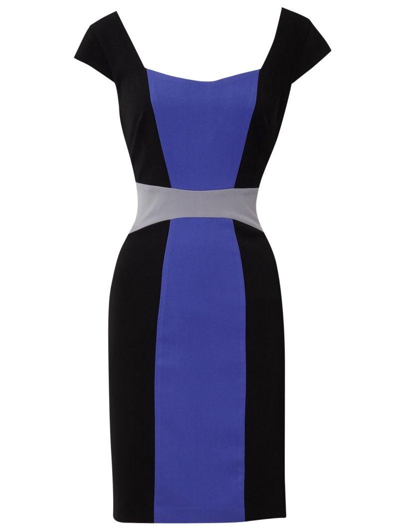 Color blocking with dark purple dresses