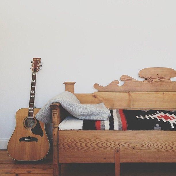 Wooden Sofa Wool Blankets
