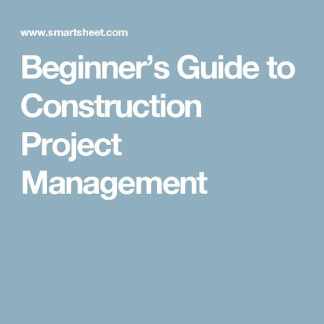 Beginner\u0027s Guide to Construction Project Management construction - spreadsheet for project management
