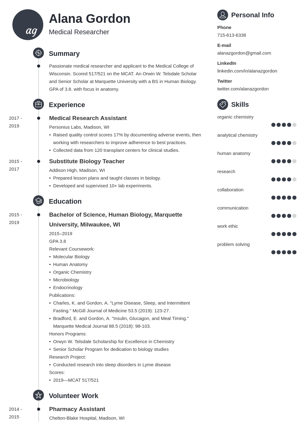 medical school resume example template primo in 2020