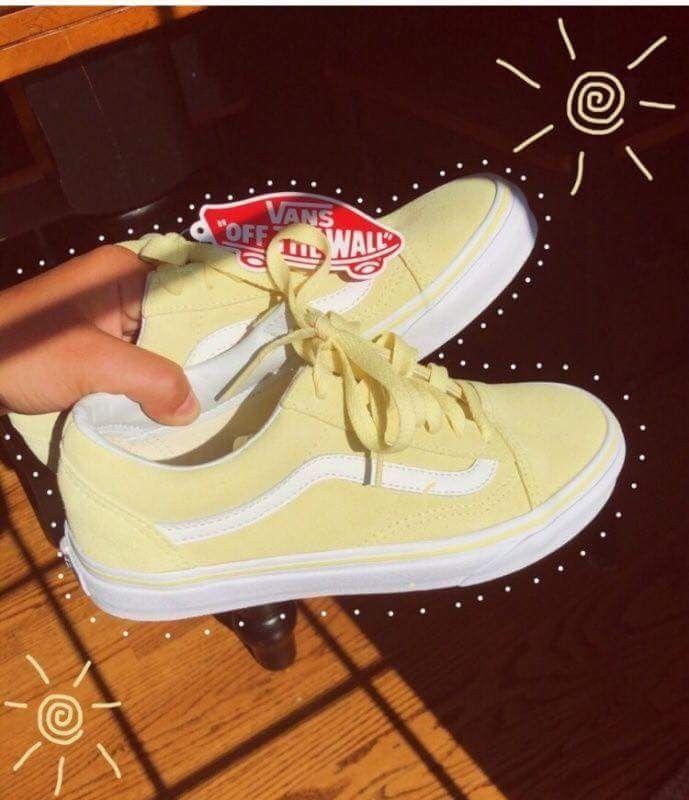 Pinterest photo | Yellow sneakers, Yellow vans, Yellow shoes