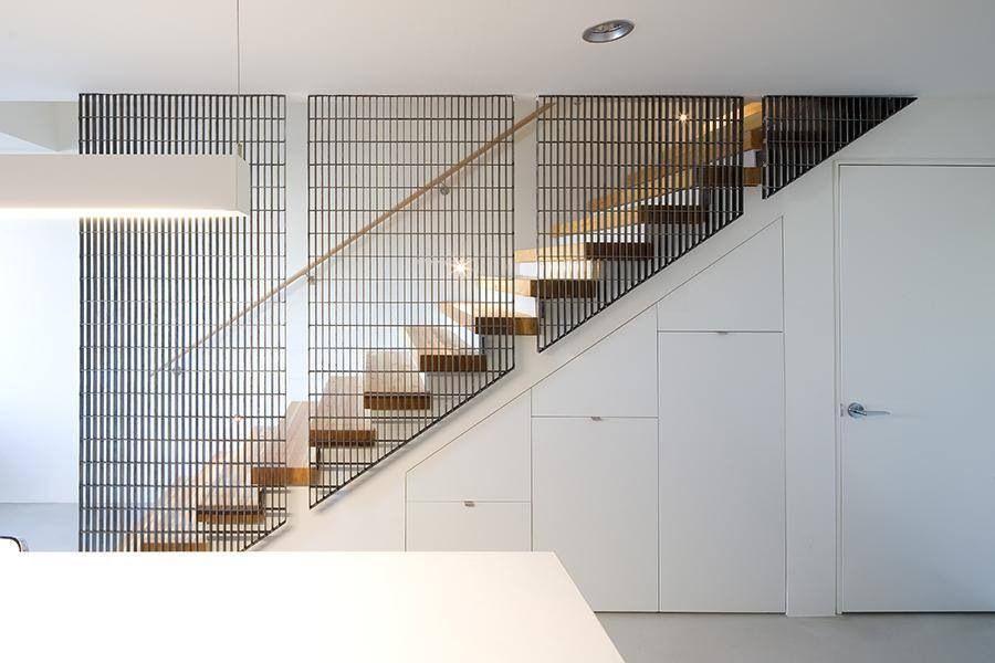 Escalera Con Cerramiento Escaleras Arquitectura Barandas
