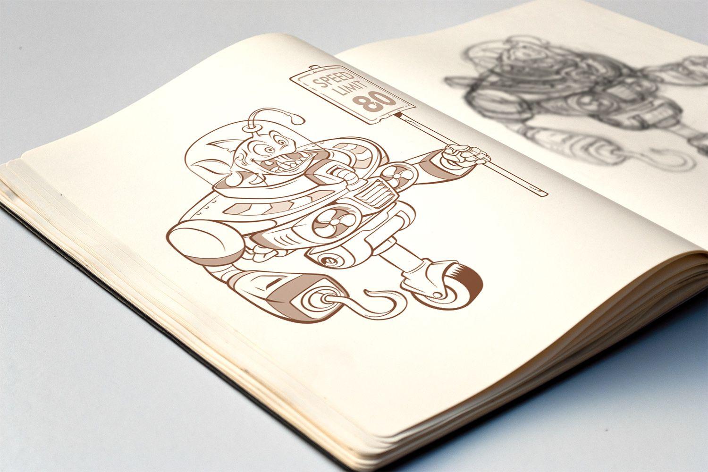 #Steampunk #Character #Design - #Fish #Robot