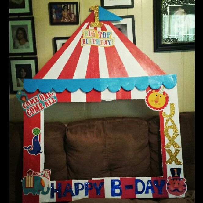 Circus photo frame | 1st Circus Party | Pinterest | Carnival ...