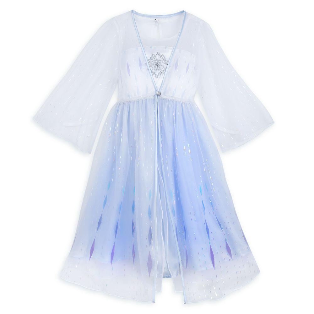DISNEY STORE FANCY ELSA DRESS SET GIRLS ICY BLUE DRESS SILVER LEGGINGS NWT