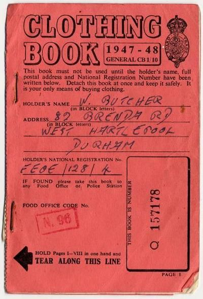 make do and mend 1940s rationing english clothing ration book rh pinterest com War Ration Book Gas Ration Book