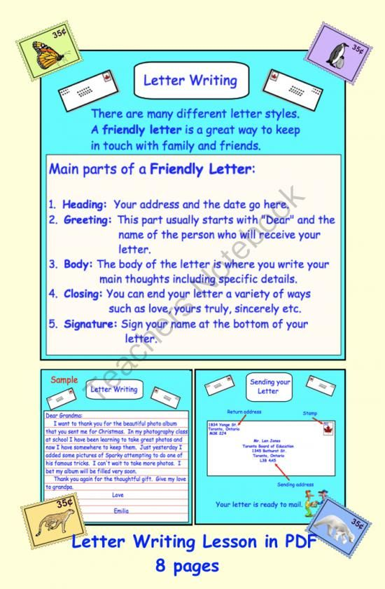 Letter Writing PDF from Teaching The Smart Way on TeachersNotebook ...