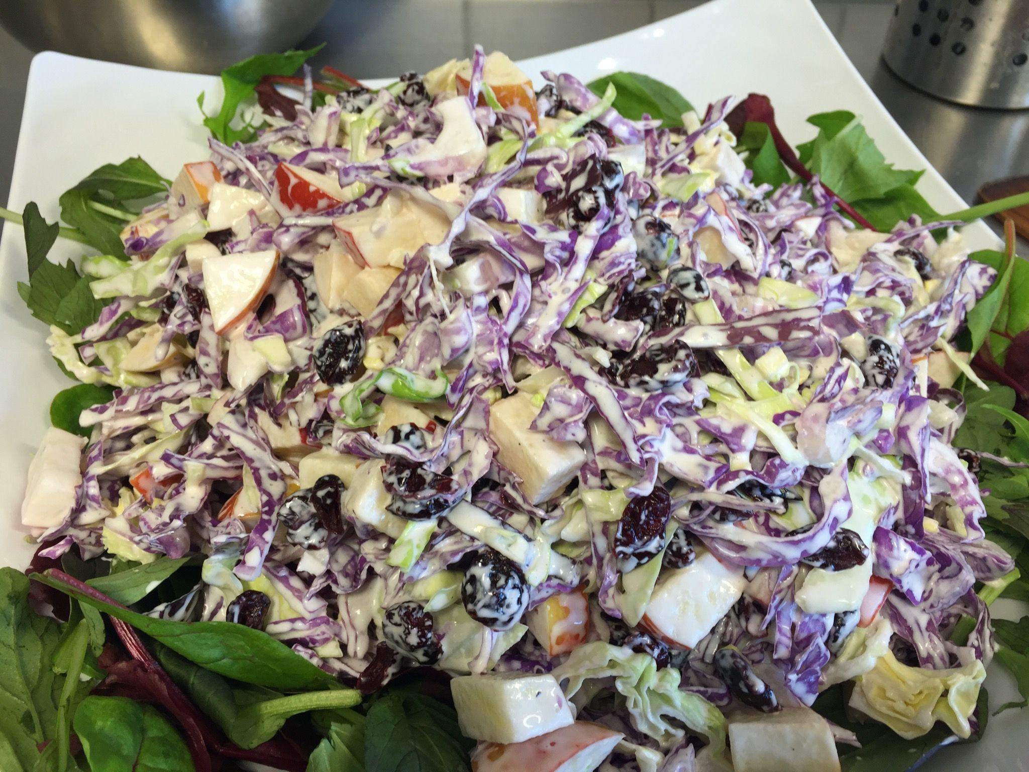 En Dejlig Spicy Salat Med Tofarvet Spidskål Spis Den Som Tilbehør