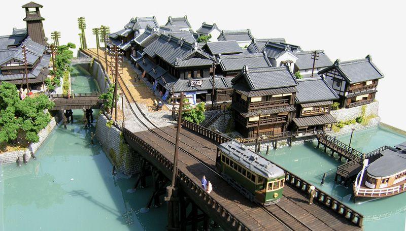 東京下町の路面電車モジュール I/立体の絵図