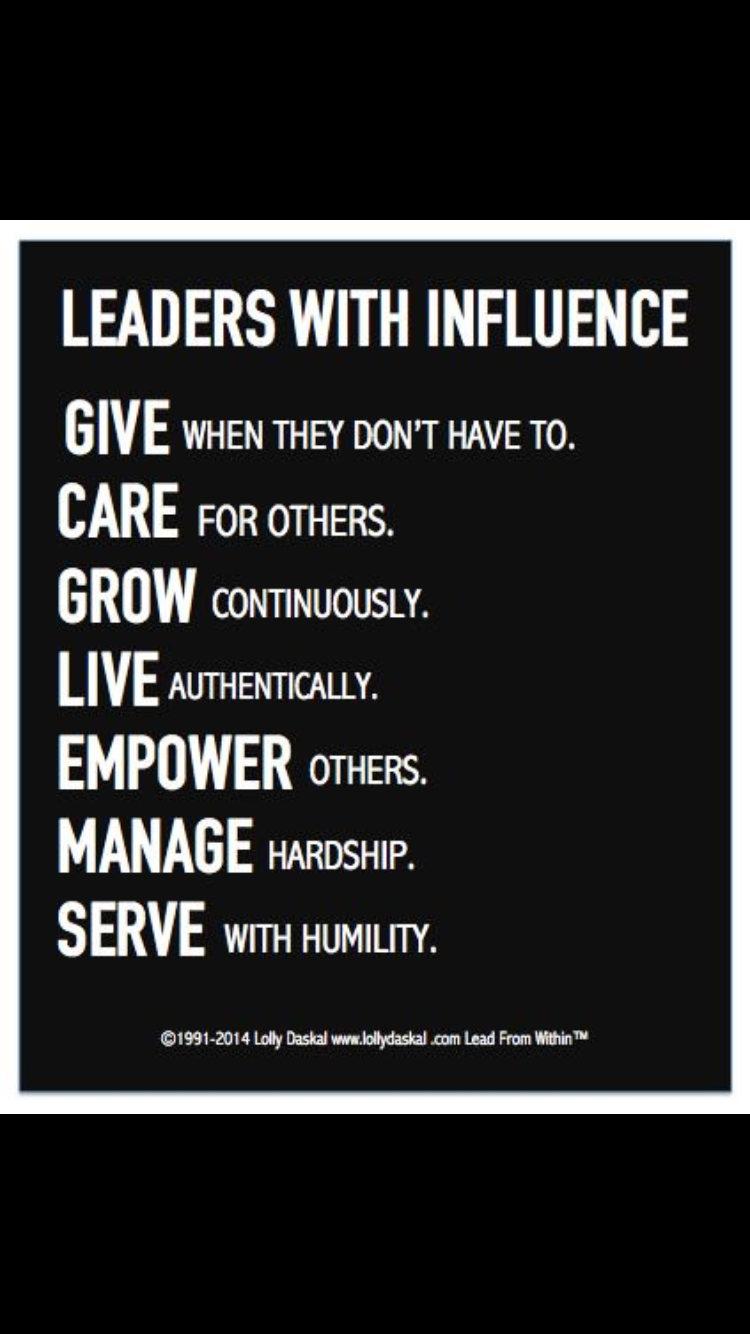 Leaders with influence