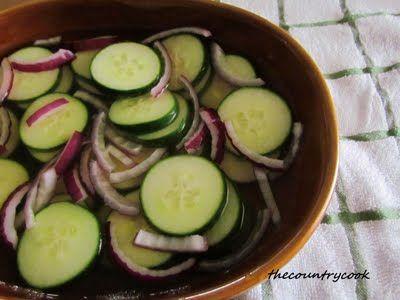 Vinegar Cucumbers