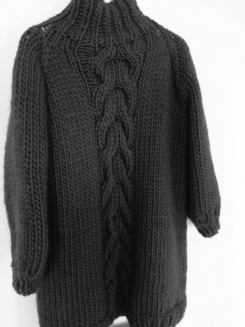 Cable knit dress