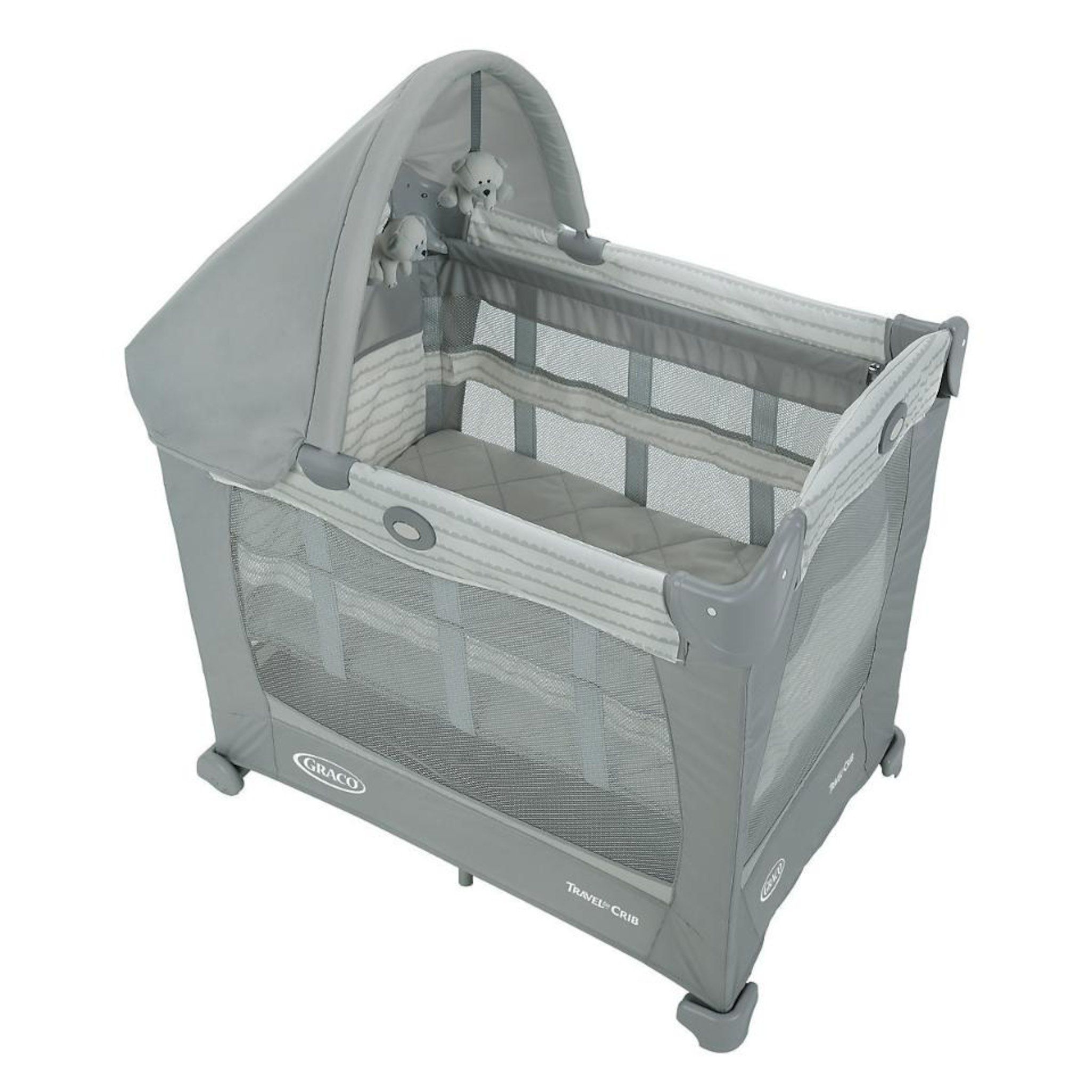 Graco Travel Lite Ultra-Comfy Crib With Stages Two Level ...