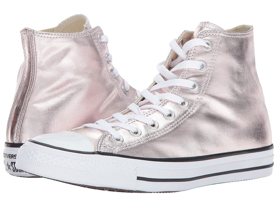 afc5ce35c55203 Converse Chuck Taylor All Star - Hi Metallic Canvas Women s Lace up casual  Shoes Rose Quartz White Black